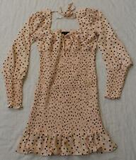 Forever 21 Women's Polka Dot Smocked Self-Tie Dress TM8 Pink Small NWT