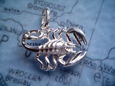 Skorpion Figur Sternzeichen Silber 925, Kettenanhänger Sterlingsilber Skorpion