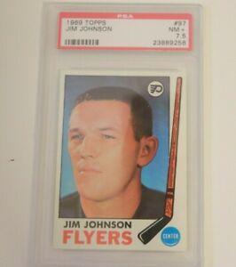 1969 Topps #97 Jim Johnson PSA 7.5 Philadelphia Flyers