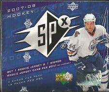 2007-08 Upper Deck SPX Hockey Factory Sealed Hobby Box - 2 Hits Per Box