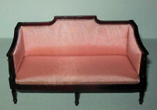 ROSE SHERTON COUCH MAHOGANY VINTAGE #691 DELUXE DOLLHOUSE FURNITURE MINIATURES