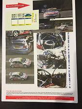 DECALS 1/24 PEUGEOT 206 WRC AURIOL RALLYE ESPAGNE CATALOGNE 2001 RALLY TAMIYA