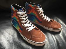 Men's Vans Size 8.5 UK. 42 Euro. SK8 HI Top Trainers. Leather & Tie Dye. SAMPLES