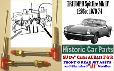 "TRIUMPH SPITFIRE Mk4 1970-74-Front+Rear SU Carb JET ASSY & Std ""AAN"" Needles"