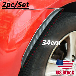 Universal Rubber Mud Flaps Splash Guard Arch extension Carbon Fiber Front Rear
