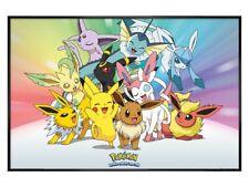 Pokemon PKMN Poster Gloss Black Framed Eevee 91.5x61cm