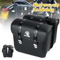Motorcycle Saddlebag Side Tool Bag Pannier Luggage Leather For Honda