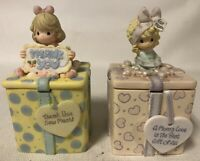 2 Precious Moments Figurines: Mom's Love Is The Best Gift,Thank You Sew Much