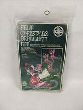 "SEALED Holiday Felt Christmas Ornament Kit #4165 ""Skate Boot"" VINTAGE CRAFT KIT"