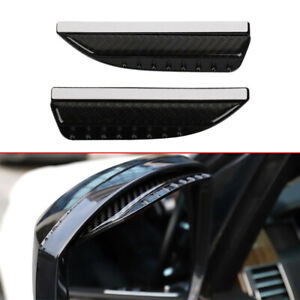 2pc Real Carbon Fiber Rear View Side Mirror Visor Shade Rain Eyebrow Guard Parts