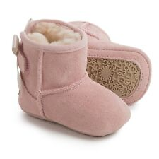 UGG Australia Jesse Bow Boots - Baby Pink - Size 0/1 (0-6 Months)