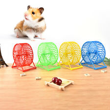 Hot Pet Hamster Mouse Rat Mice Gerbils Running Jogging Wheel Exercise Toy FR