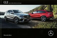 Mercedes GLE SUV Coupé Prospekt 2016 23.2.16 brochure 63 43 AMG 500 400 350d Pkw