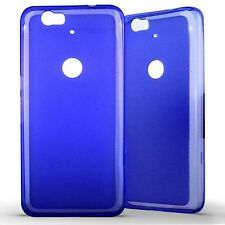 Housse Coque Etui Huawei Google Nexus 6P Silicone Gel Protection arrière- Bleu