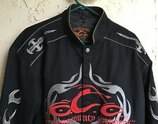 ORANGE COUNTY CHOPPERS OCC EMBROIDERED Heavy Cotton JACKET~BLACK~Size M