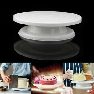 11 Inch Rotating Cake Turntable Cake Stand Spinner for Cake Decorations Pastries
