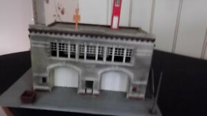 Built ho scale highly weathered Fire Station in very good condition