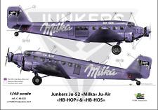 """[FFSMC Productions] Decals 1/48 Junkers Ju-52 """"Ju - Air Milka"""