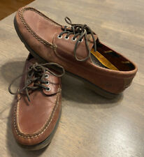 Sperry Top Sider Ranger Camp Moccasin Leather Shoes Brown Men Sz 10