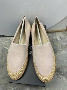 SEED LADIES ELLE LEATHER ESPADRILLES PEONY PINK FLATS SHOES Sz 40 RRP $129.00