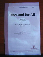 Once and for All -1999 sheet music gospel - SATB vocal, piano, guitar chords