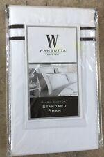 Wamsutta Hotel Baratta Stitch Micro Cotton Standard Sham Pillow Sham Black