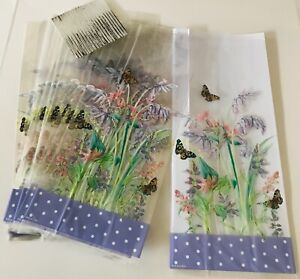 20 X EASTER OR MOTHERS / BIRTHDAY Floral Cellophane CELLO Treat Sweet Gift Bags