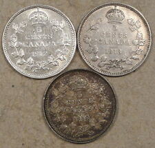 Canada 1912,13,+18 5 Cents Silver Better Grades As Pictured