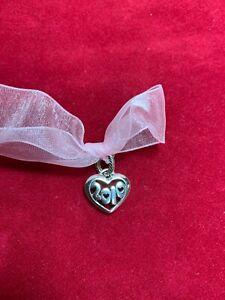 Brighton Silver Plated  2010 Heart Charm Bead