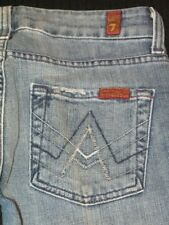 7 for all Mankind A Pocket TriColor MNE Jeans Straight Leg Sz 25 P
