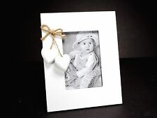 White Wooden Shabby Chic Photo Frame (picture size 13 x 9 cm) Home Decoration #1