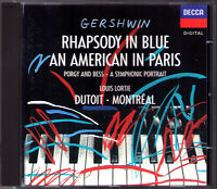 Charles DUTOIT GERSHWIN Rhapsody in Blue An American in Paris Cuban LOUIS LORTIE