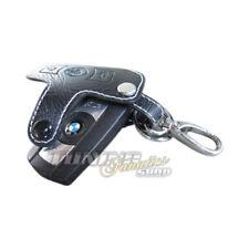 Tasca chiave Astuccio portachiavi Pieghevoli, PELLE Bianco #2 per BMW