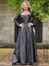 Lederkleid Leder Kleid Schwarz Abend Weitschwingend Maßanfertigung