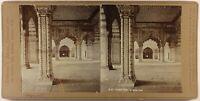 India Delhi Diwani Khas Forte Foto Stereo c1900 Vintage Citrato