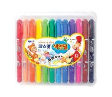 Color Pencil AMOS Pasnet Premium 12 Colors Non-toxic Silky Twisters Crayon