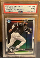 2018 Bowman Chrome Draft Luis Robert Refractor #BDC188 PSA 9 MINT Rookie RC Sox