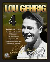 Lou Gehrig NY Yankees 8x10 Signature Photo Card QTY: 10