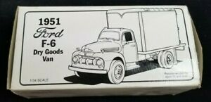 """""""FIRST GEAR"""" DIE CAST 1951 FORD F-6 CHIEF DRY GOODS VAN MINT IN BOX"""