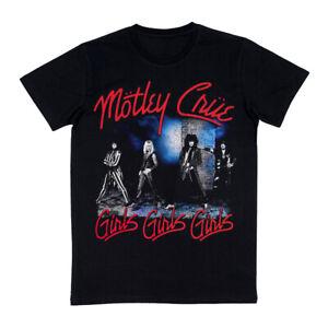 Motley Crue Girls Girls Girls Men's Black T-Shirt Licensed Gildan S M L XL