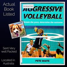 Aggressive Volleyball Pete Waite Paperback Human Kinetics 2009 Ex Library VG