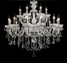 Clear 18 Arms Crystal Chandelier Pendant Lamp Ceiling Light Fixtures Ceiling Fan