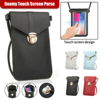 Cell Phone Wallet Cross-body Touch Screen Shoulder Bag Leather Pouch Case US