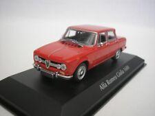 Alfa ROMEO Giulia 1600 Rosso Diecast 1 43 Minichamps Maxichamps