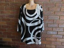 Polyester 3/4 Sleeve Tunic Geometric Tops & Blouses for Women