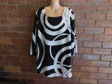 Polyester Career 3/4 Sleeve Geometric Tops for Women