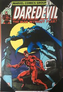 "Marvel Comics ""Daredevil-The man without fear"" Wooden Wall Art Decor 13""x19"" NEW"