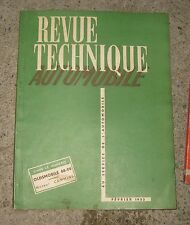 RTA revue technique automobile n°82 fevrier 1953 oldsmobile 88 98