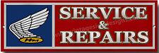 Honda Service & Reparatur Metallschild Klassisch, Vintage, Frühe Honda Motorrad