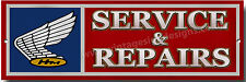 HONDA SERVICE & REPAIRS METAL SIGN.CLASSIC,VINTAGE,EARLY HONDA MOTORCYCLES.